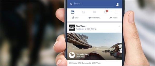 "Facebook推360度视频功能,虚拟现实技术或与视频""结盟"""